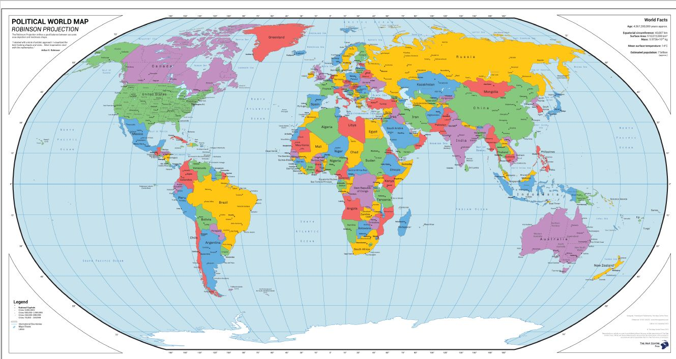 Michelin Map Of The World - World map p