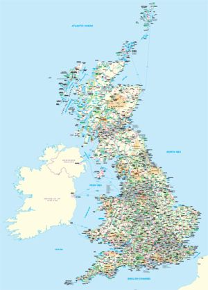 Bespoke maps of the UK