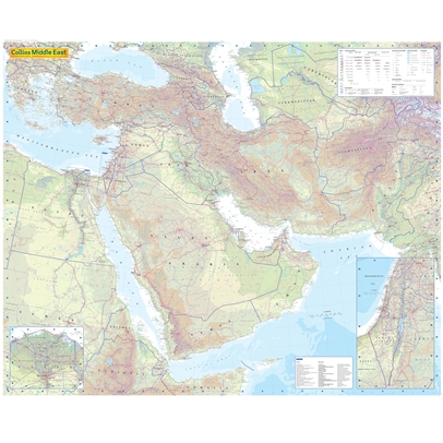 1. Middle East Political Wall Map Laminated