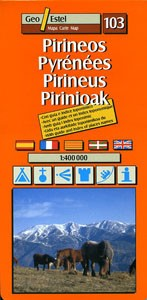 103 The Pyrenees (Pireneo, pirineus, Pirinioak) - 1:400,000