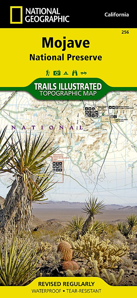 256 Mojave National Preserve National Geographic Topographic Map