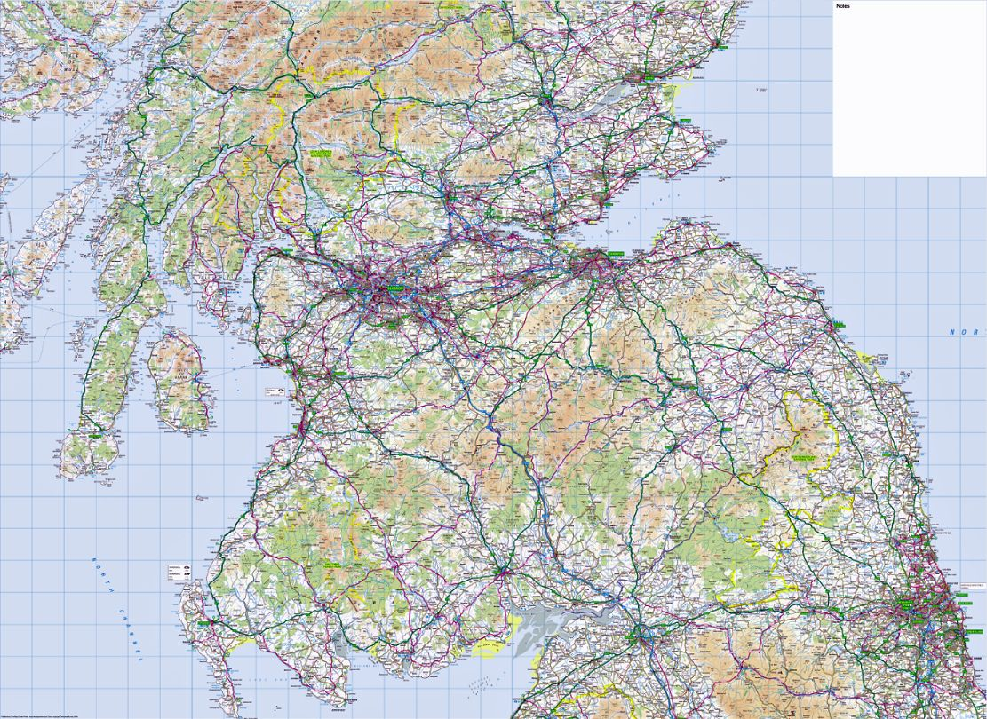 3 ordnance survey road map southern scotland northumberland ordnance survey road map southern scotland northumberland wall map sciox Image collections