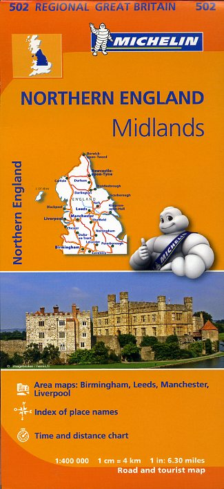 502 Michelin Map Northern England & The Midlands