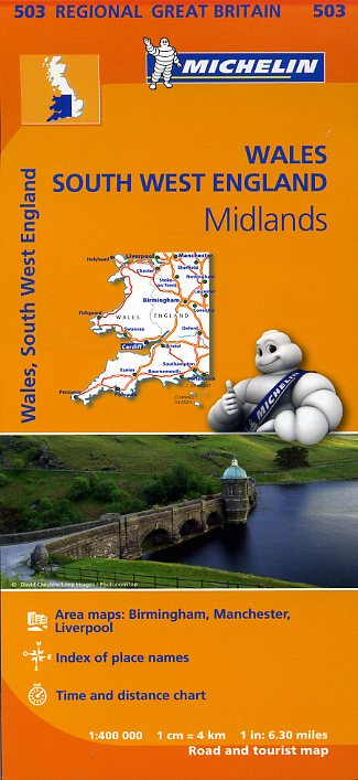 503 Michelin Map Wales, South West England & The Midlands