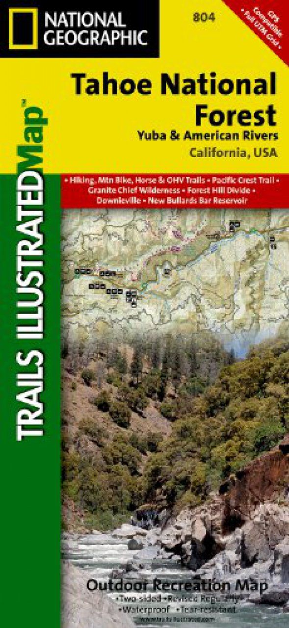 805 Tahoe National Forest East  National Geographic Topographic Map