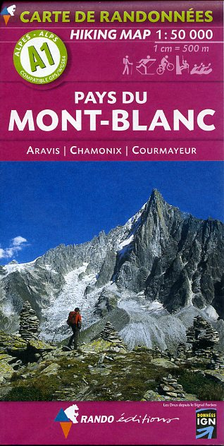 A1 Rando Editions Pays du Mont Blanc Hiking Map 1:50,000