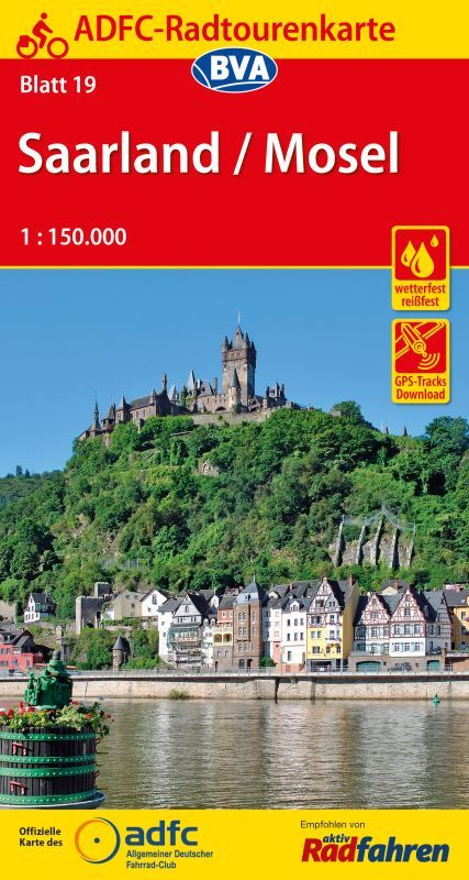 ADFC Germany 19 Saarland Mosel Cycling Map