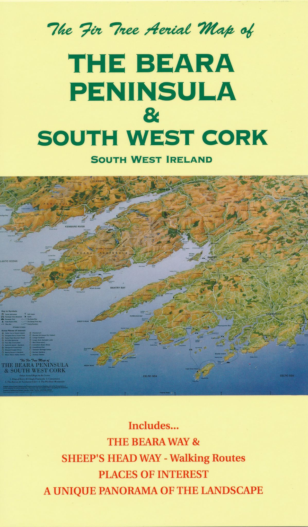 Aerial Map of the Beara Peninsula & South West Cork - Folded