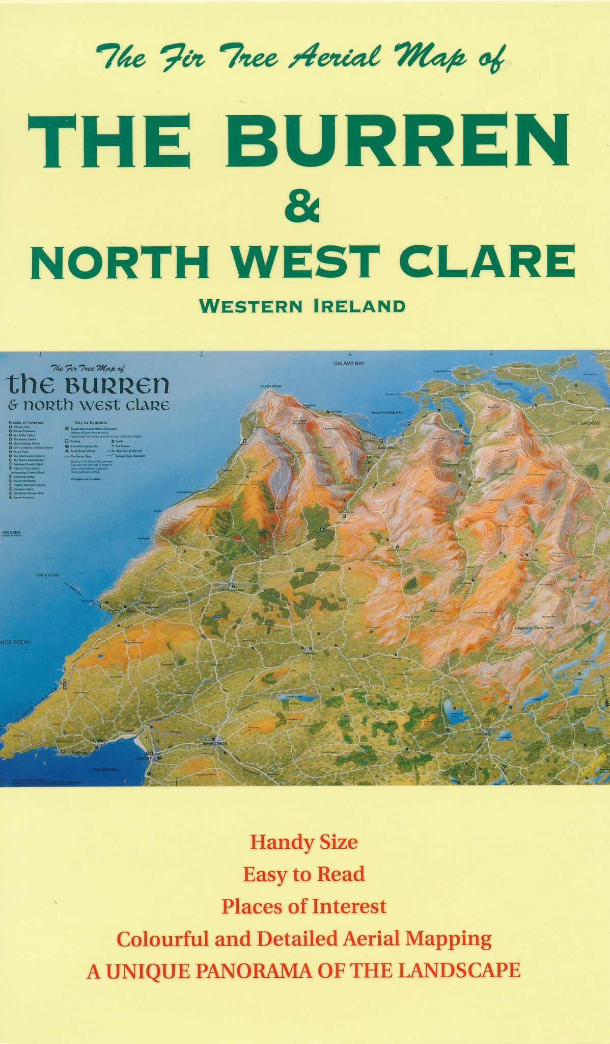Aerial Map of the Burren & North West Clare - Folded