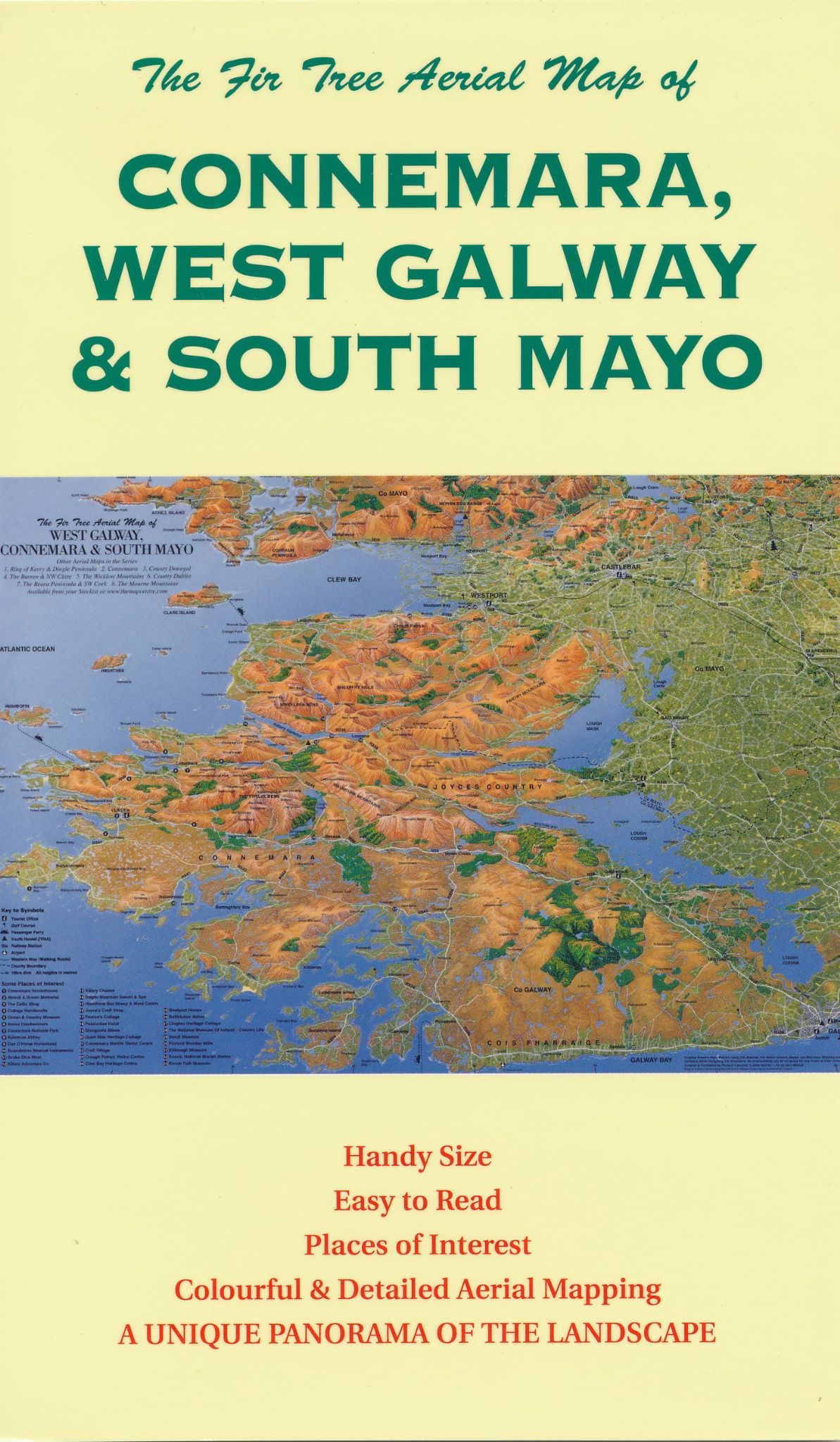 Aerial Map of West Galway, Connemara & South Mayo - Folded