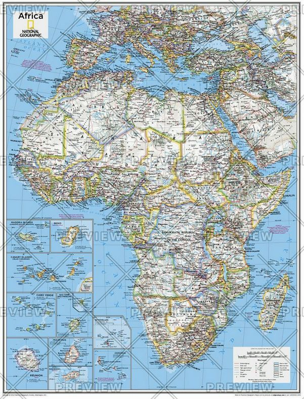 Africa Political - Atlas of the World, 10th Edition by National Geographic 2015