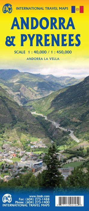 Andorra & The Pyrenees Travel Reference Map