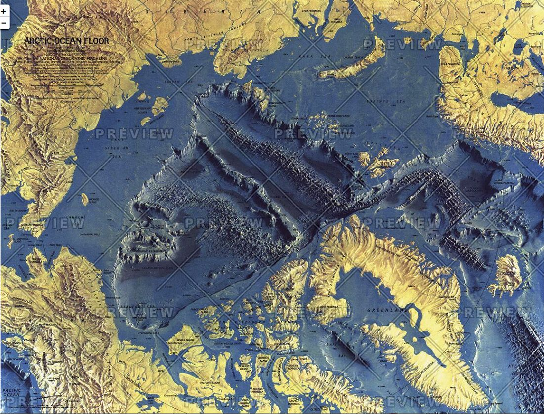 Arctic Ocean Floor By National Geographic 1971