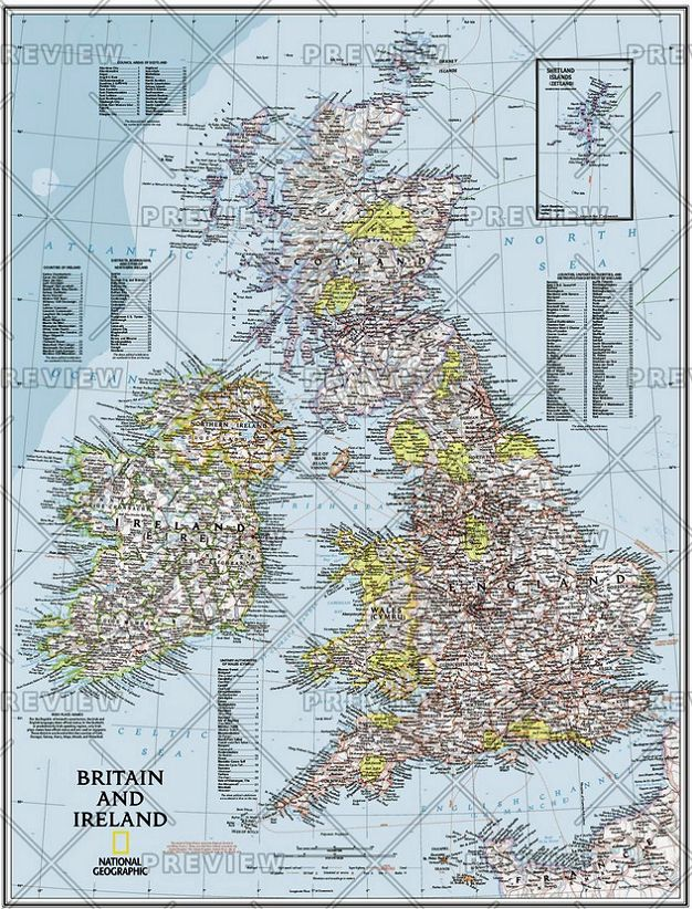 Britain And Ireland Map.Britain And Ireland Classic 2014 By National Geographic