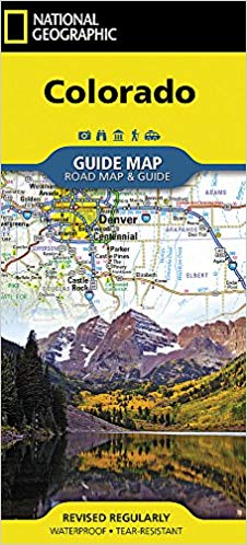 Colorado Road Map & Travel Guide GM14