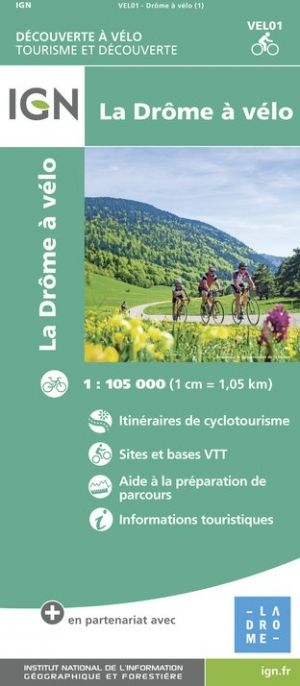 Drome By Bike IGN 1:105,000