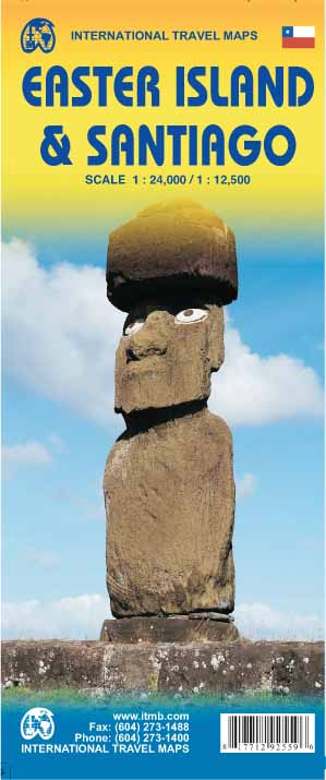 Easter Island & Santiago Travel Map