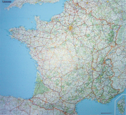 France Planning Wall Map