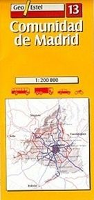 Geo Estel Map 13 - Madrid & surroundings - 1:200,000