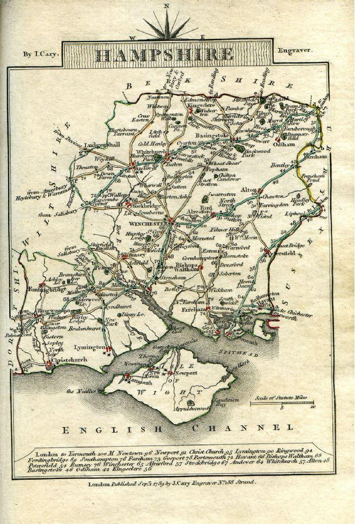 Hampshire County Map-Paper