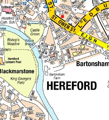 Hereford A Z Street Wall Map