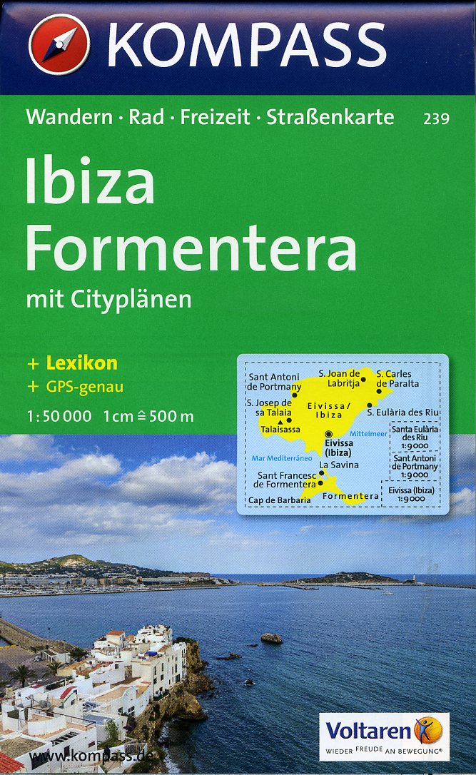 Ibiza and Formentera - Kompass Map 1:50,000