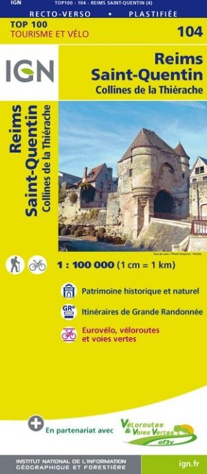 IGN 104 - Reims, Saint - Quentin Collines de la Thierache