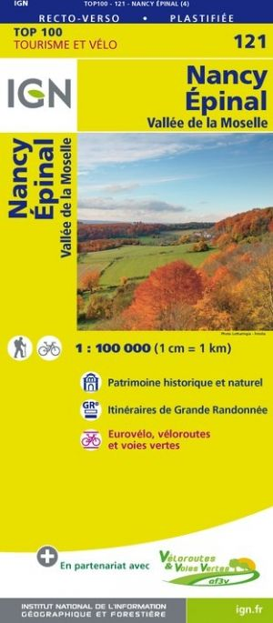 IGN 121 - Nancy, Epinal Vallee de la Moselle
