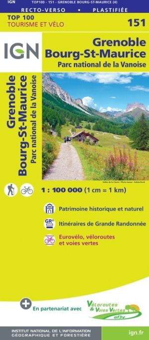 IGN 151 - Grenoble, Chambery Parc National de la Vanoise