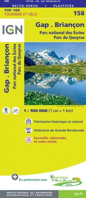 IGN 158 - Gap, Briancon Parc National des Ecrins