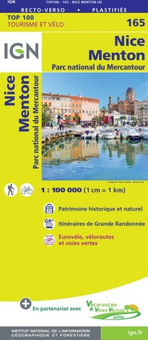 IGN 165 - Nice, Draguignan Parc National du Mercantour