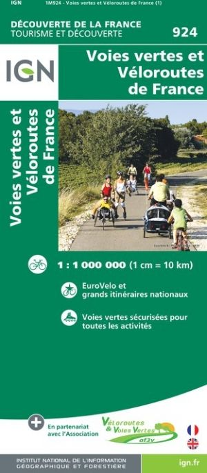 IGN 924 Greenways and Cycle Routes of France