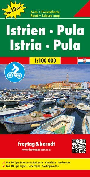 Istria & Pula - Cycling Map - Freytag & Berndt 1:100,000