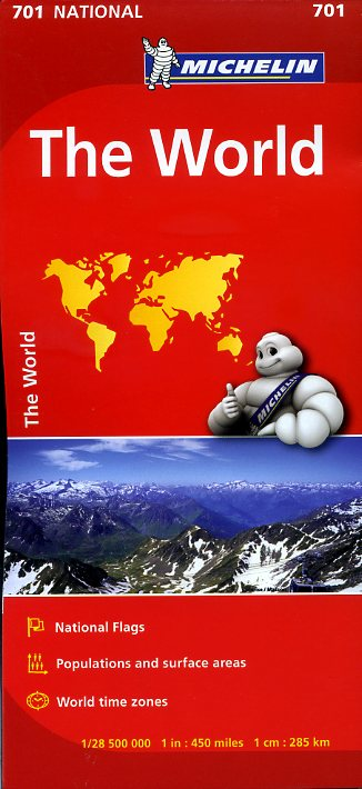 Michelin Map The World - FOLDED