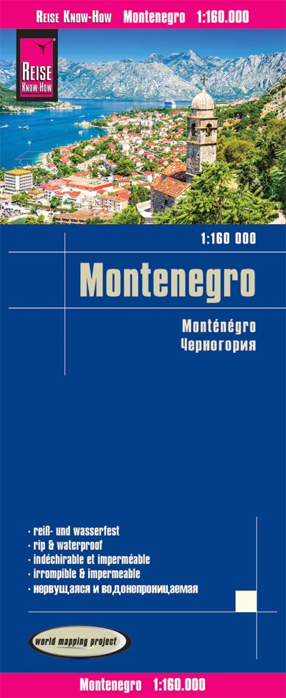 Montenegro - Reise Map at 1:160,000