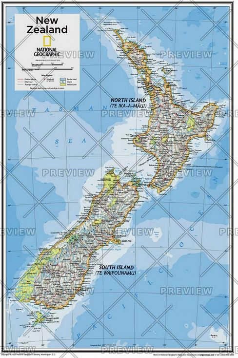 A Map Of New Zealand.New Zealand Atlas Of The World 10th Edition 2015 By National Geographic