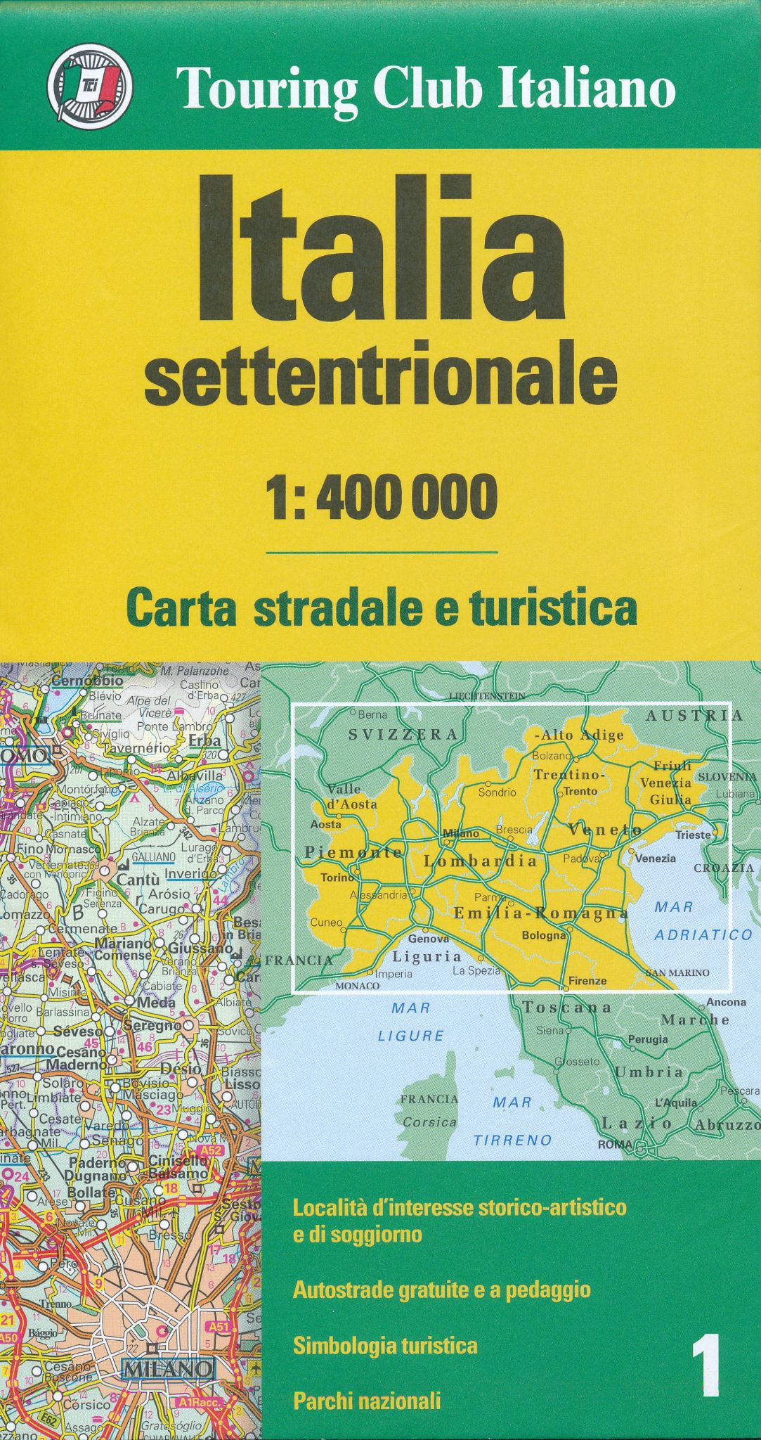 Map Of Northern Italy And Austria.Northern Italy Tci 1 400 000