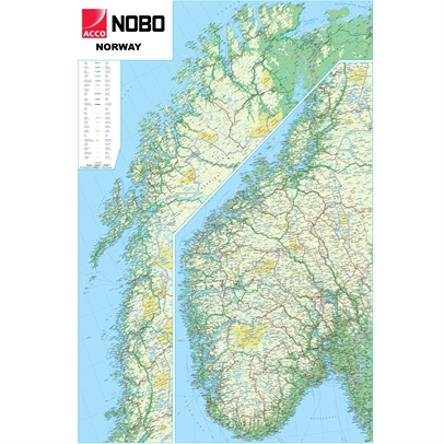 Norway Political Wall Map
