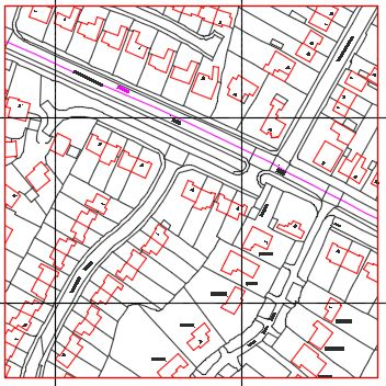 Ordnance Survey DWG, DXF, GDB or GML Vector data - 200m x 200m (4Ha)