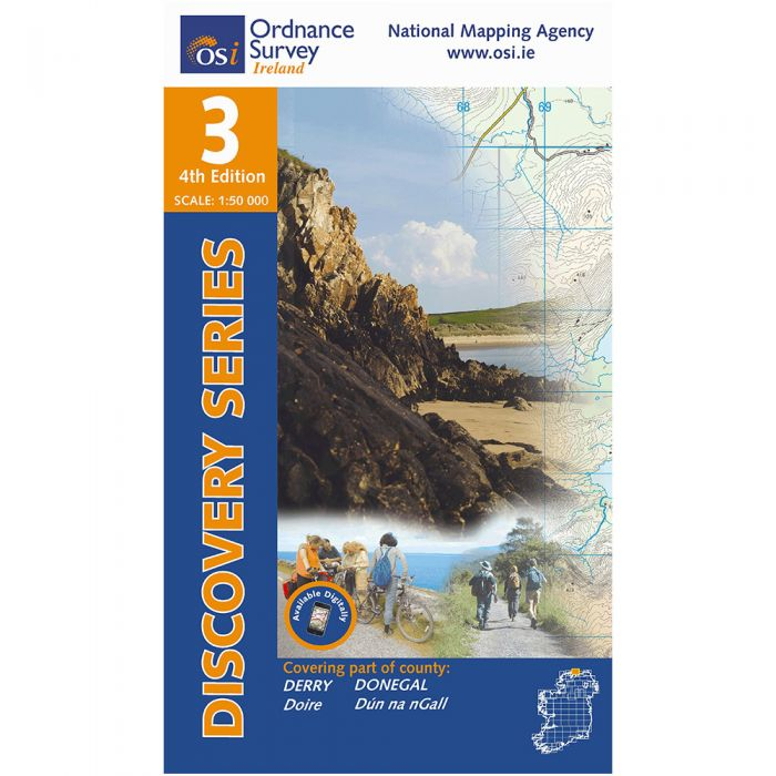 Map Of Ireland Headlands.Ordnance Survey Ireland 1 50 000 Map 03 Donegal North East Derry
