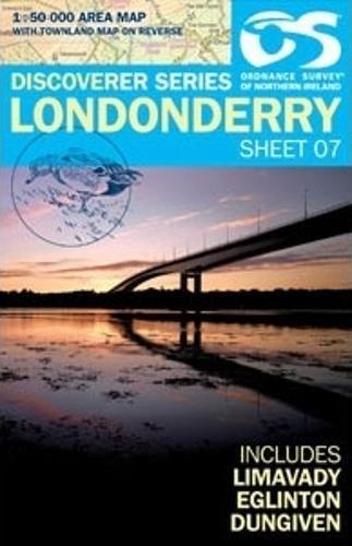 Ordnance Survey Northern Ireland 1:50,000 - Map 07 - Londonderry