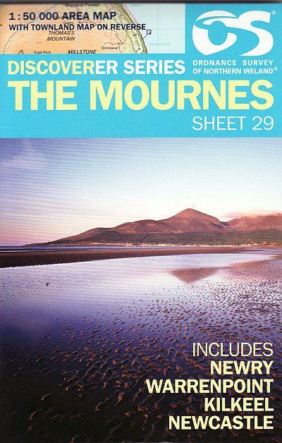 Ordnance Survey Northern Ireland 1:50,000 - Map 29 - The Mournes