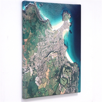 Personalised Canvas Maps - Aerial Photography