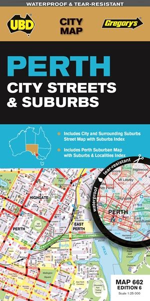 Perth City and Surrounding Street Map - UBD