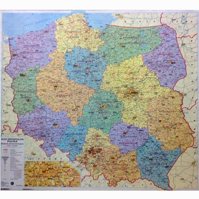 Poland Administrative Wall Map