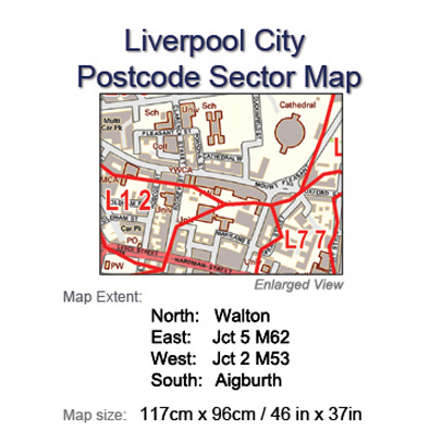 Postcode City Sector Maps 7 Liverpool