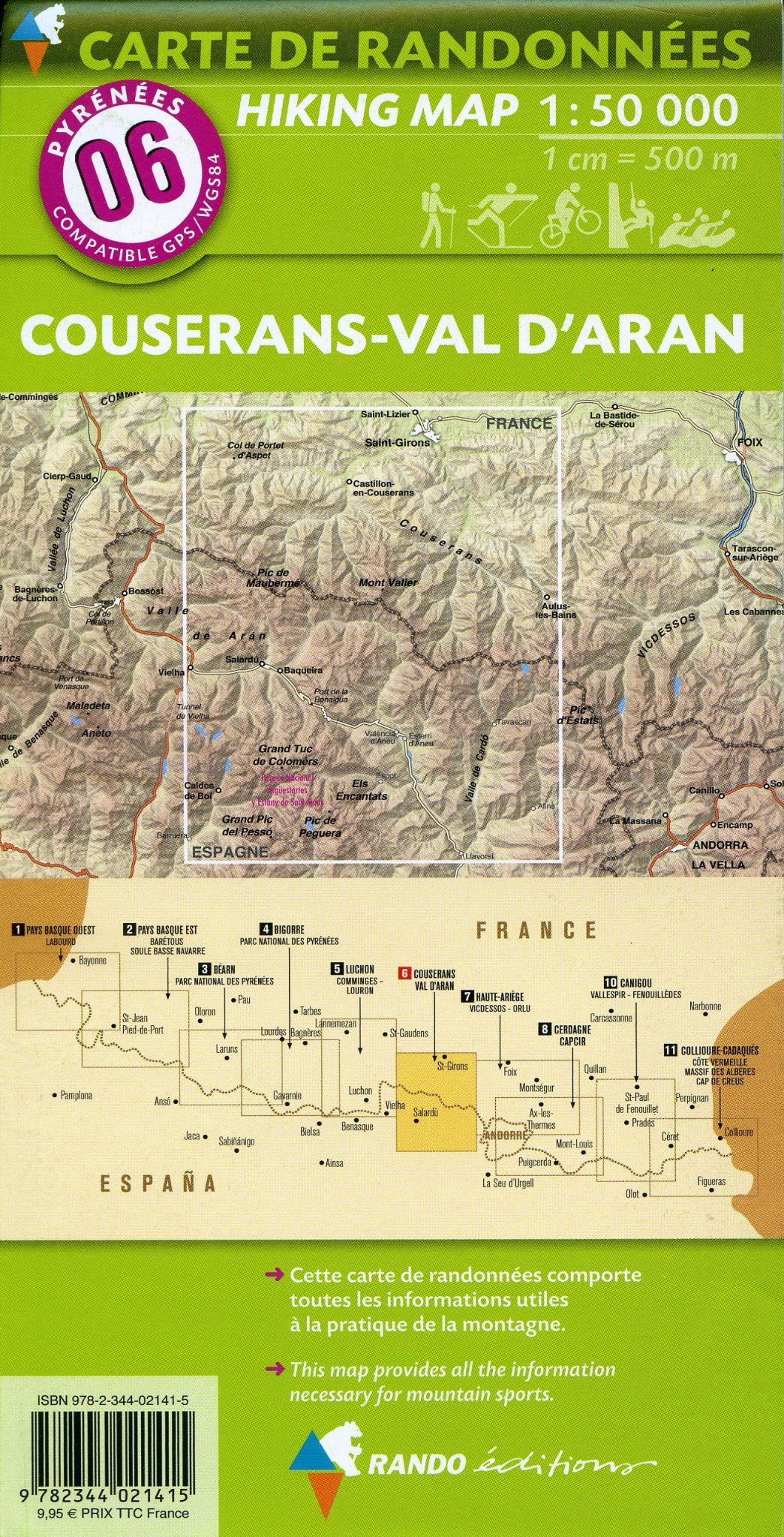 Editions 150000 Walking Map Of the Pyrenees Map 06