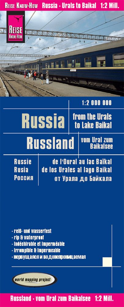 Russia - From the Urals to Lake Baikal - Reise Know How - 1:2,000,000