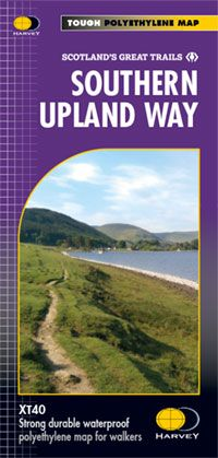 Southern Uplands Way - Harvey Long Distance Path Map