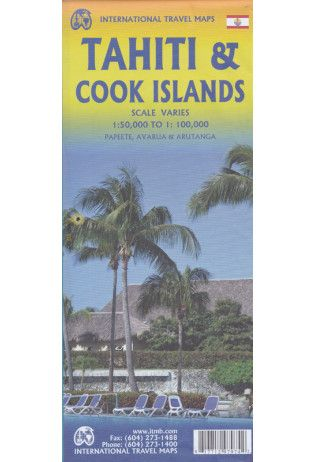 Tahiti & Cook Islands Travel Reference Map